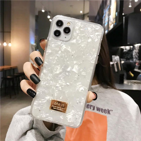 Four Colors Marble Shining Phone Case for Samsung gallery 2
