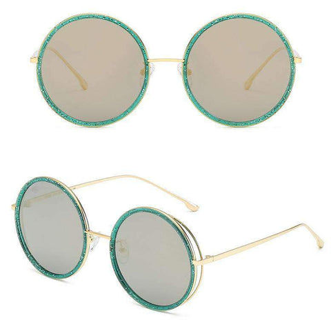 Circle Shape Lens with Wire Side Sunglasses gallery 8