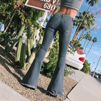 Street Distressed Flare Jeans