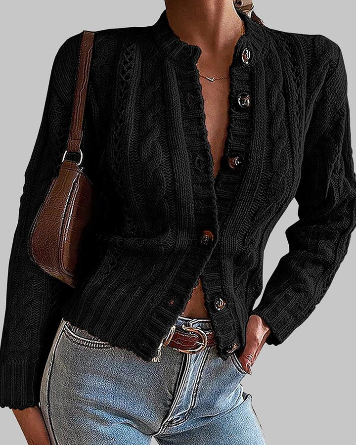 Chunky Knit Button Front Sweater gallery 2