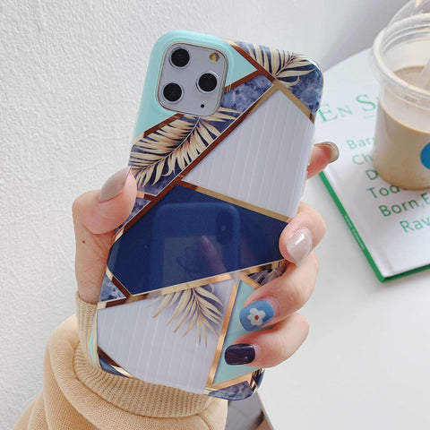 Multicolored Joint Marble Pattern Phone Case for Samsung gallery 2