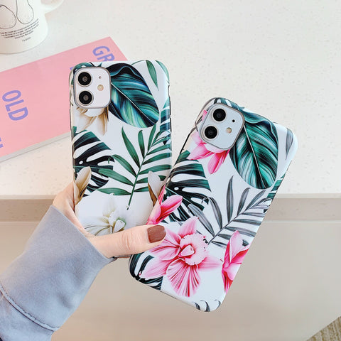 Botanical Print iPhone Case with Phone Holder
