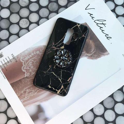 Luxury Marble Pattern Phone Case for Samsung with Phone Holder gallery 7