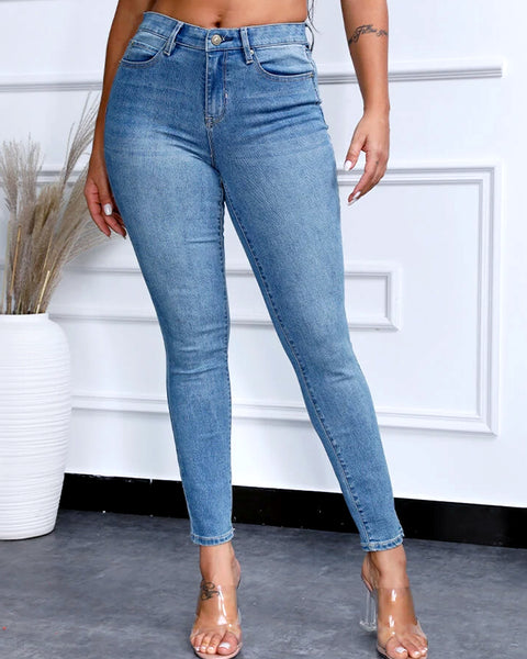 Classic Solid Butt Lifting Jeans
