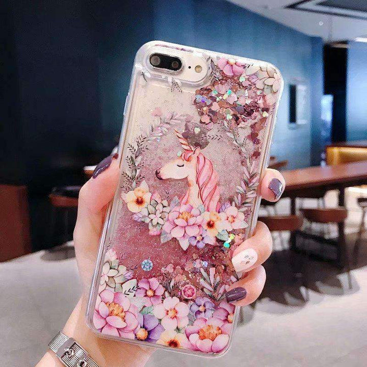 Floral Pattern Cute Horse Heart Fragments Samsung Case gallery 2