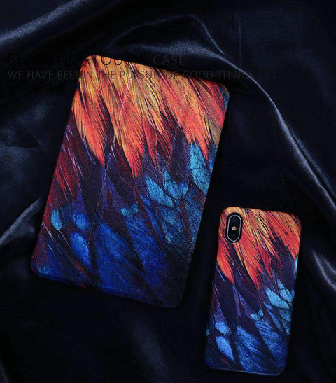 Contracted Feather Painted Apple iPad Cover Case gallery 1
