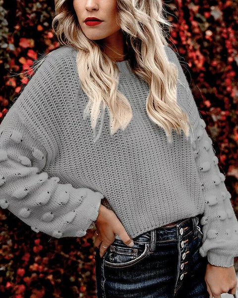 Drop Shoulder Hollow Out Sweater