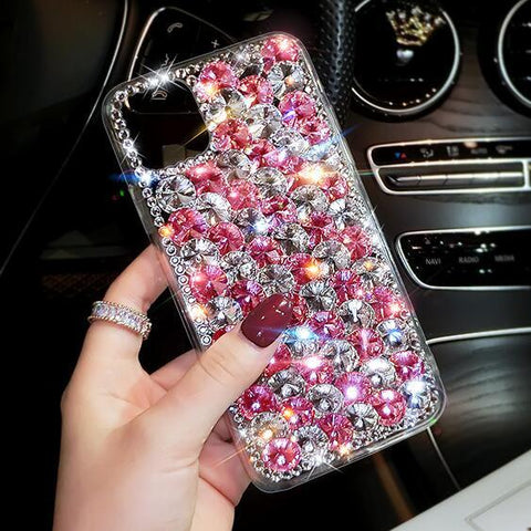 Full Rhinestone Cover Shockproof Phone Case for Samsung gallery 4