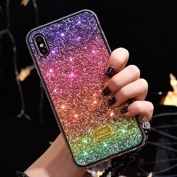 Sparkling Ombre Phone Case For All iPhone