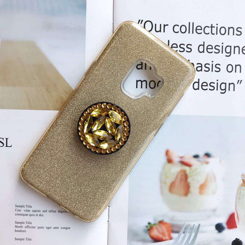 Luxury Solid Color Bling Samsung Case with Phone Holder gallery 3