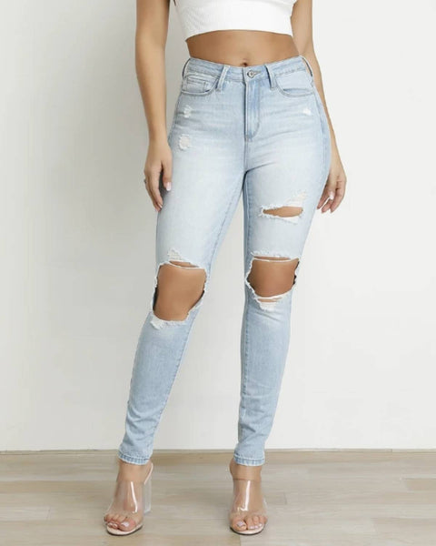 Knee Distressed Skinny Jeans