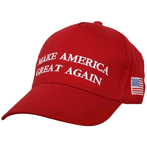 """Donald Trump Slogan """"Make America Great Again"""" Hat with Embroidered USA Flag gallery 1"""