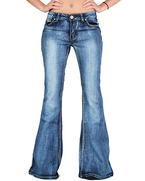 Plus Size Vintage Butt Lifting Flare Jeans