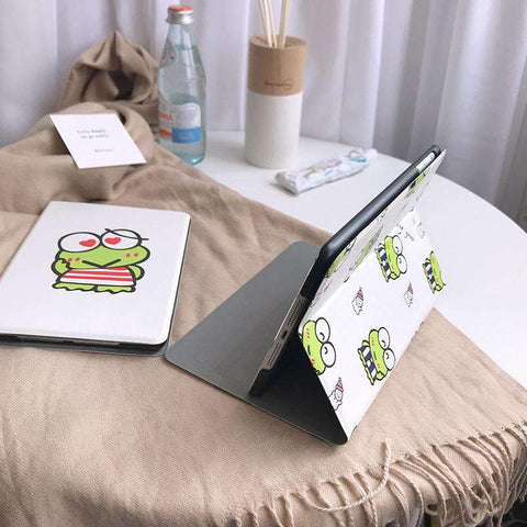 Cute Frog Painted Apple iPad Cover Case gallery 5