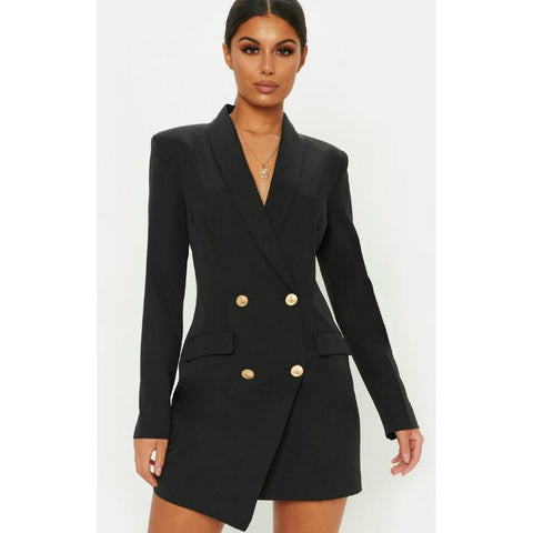 2 Colors Slim Fitted Long Blazer