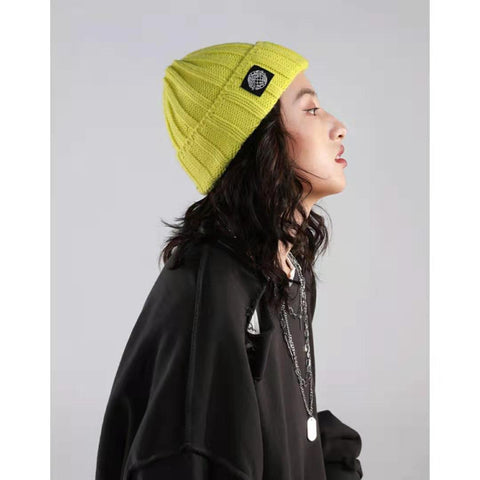 Retro Textured Warm Crimping Knitted Elastic Hat gallery 1