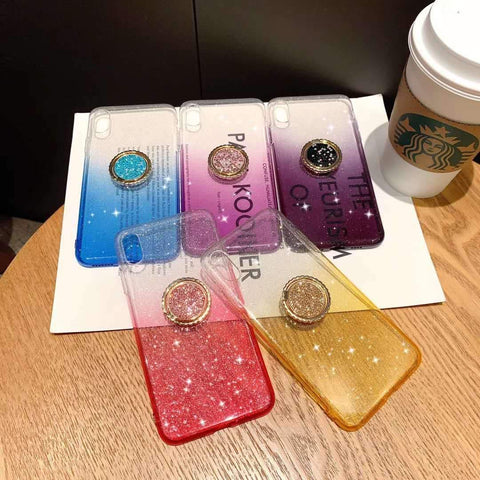 Shining Clear Transparent Phone Case for Samsung with Phone Holder gallery 10