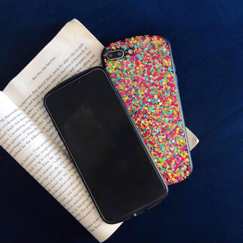 Glitter Colored Sequins Detail Phone Case for Samsung gallery 4