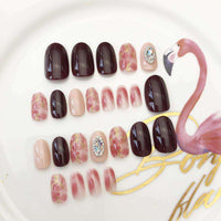 Bridal Multi-color Magic Press On Nail Manicure