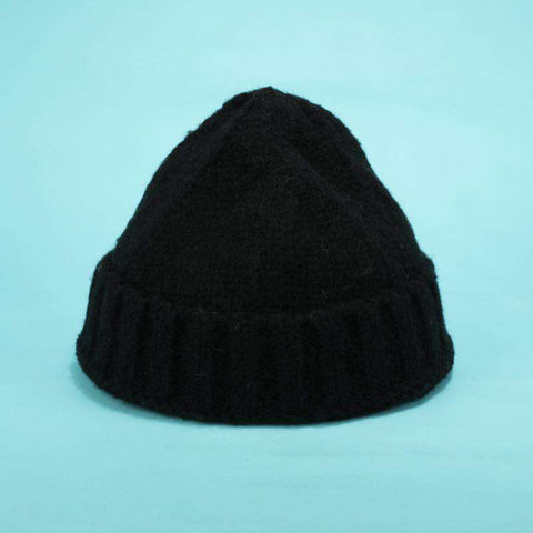 Solid-color Stitch Knit Beanie Hat gallery 8