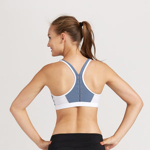 Breathable Hollow Out Color Block Wire Free Sports Bra