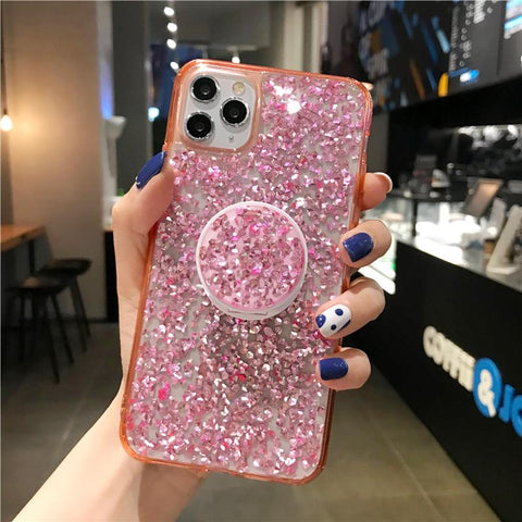 Four Colors Glittering Rhinestone Phone Case for Samsung with Phone Holder gallery 10