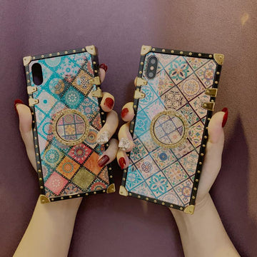 Ethnic Style Color Square Phone Case for Samsung