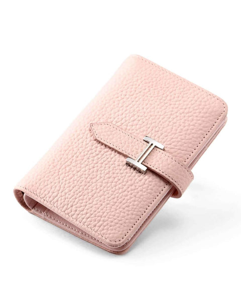 Cow Leather Thin Version Short Sized Pink Wallet gallery 1