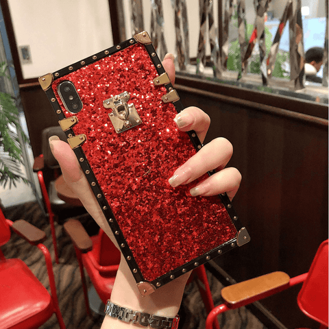 Sparkle Sequins Detail Square Phone Case for Samsung gallery 4