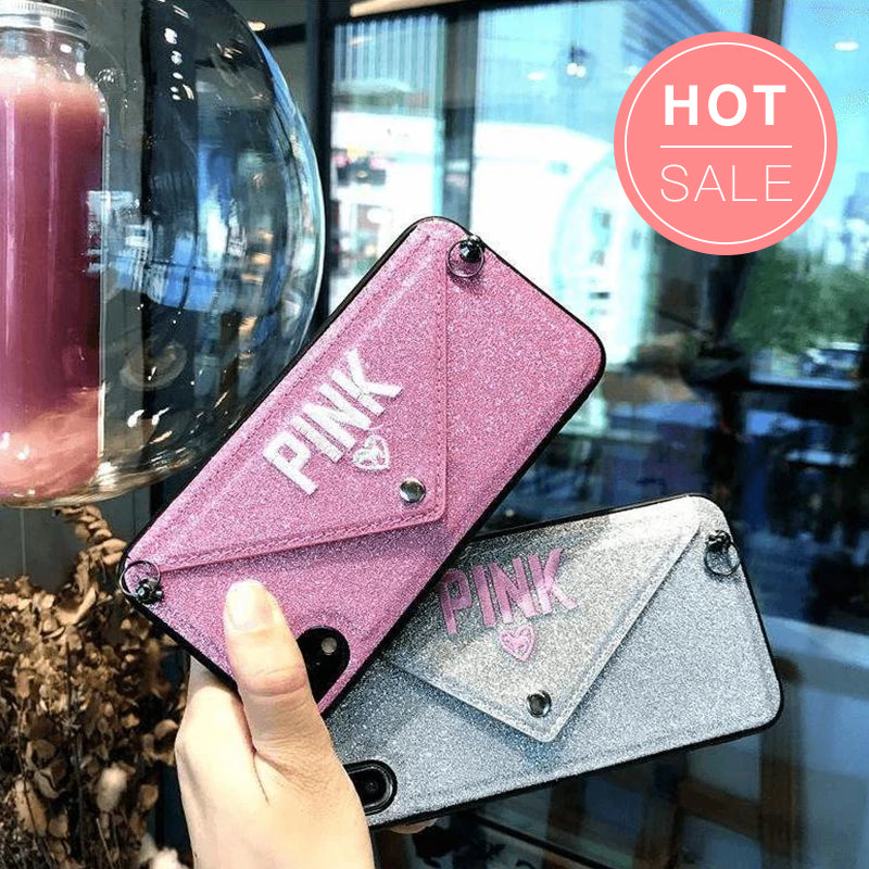 Letter Shaped Shoulder Bag Style iPhone Case with Strap