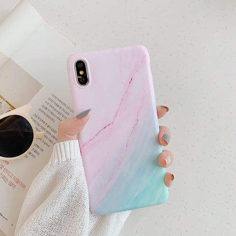 Gradient Shockproof Marble Phone Case for Samsung with Phone Holder gallery 8