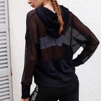 Chic Breathable Long Sleeves Yoga Coat