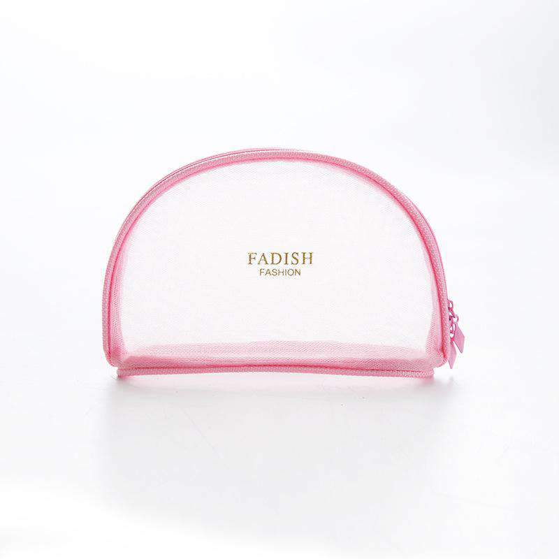 Chic Transparent Shell Shape Travel Cosmetic Bag