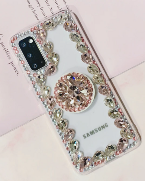 Ring Rhinestone Phone Case for Samsung with Phone Holder gallery 1
