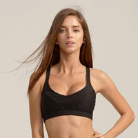 Breathable Mesh Criss Cross Sports Medium Impact Bra