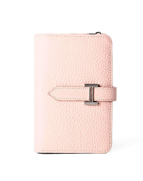 Cow Leather Thin Version Short Sized Pink Wallet gallery 4