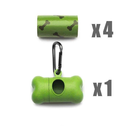 Pet Puppy Use Poop Dispenser Green Bone Shaped With Degradable Bags gallery 2