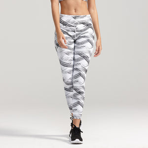 Premium Stretch Graphic Pattern Crop Sports Leggings