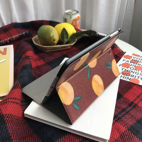 Chic Orange Painted Apple iPad Cover Case gallery 3