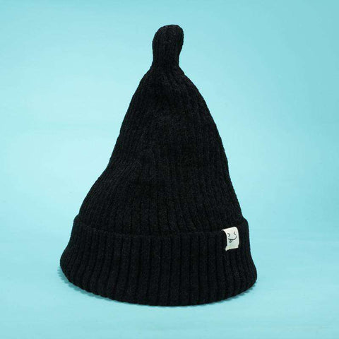 Smile Face Stitch Knit Beanie Hat gallery 1