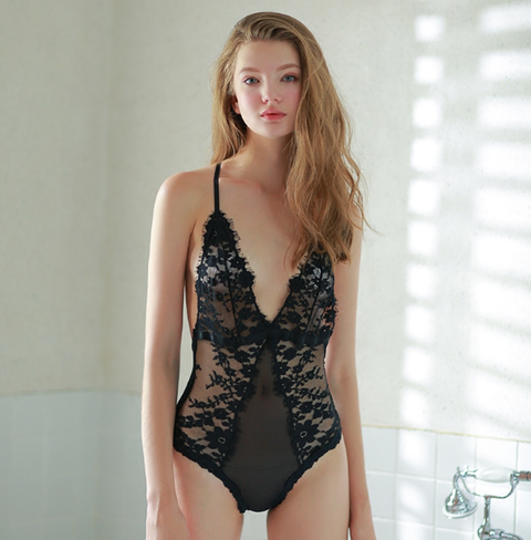 Sex Floral Lace Plunge Teddy