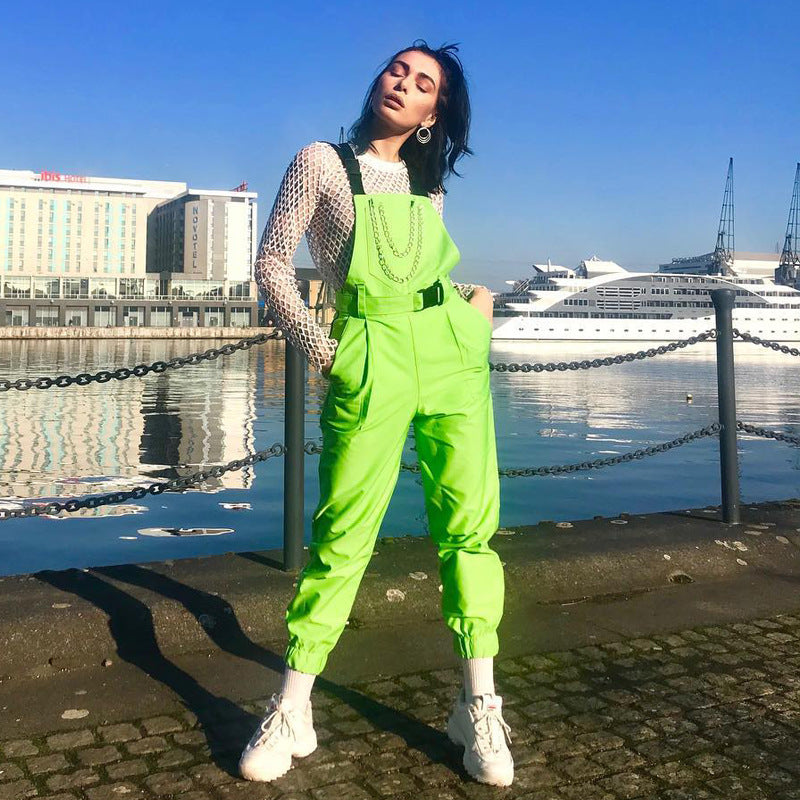 New Street Fashion Billie Green Dungarees