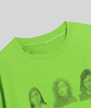 Free Size Print Crew Neck Loose T Shirt gallery 7