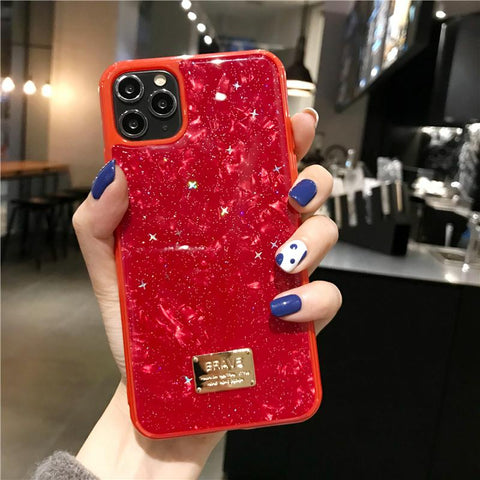Four Colors Marble Shining Phone Case for Samsung gallery 3