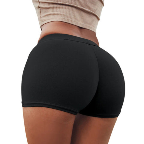 Solid Butt Lifting Compression Fit Shorts