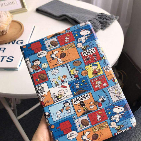Creative Cartoon Pattern Painted Apple iPad Cover Case gallery 2