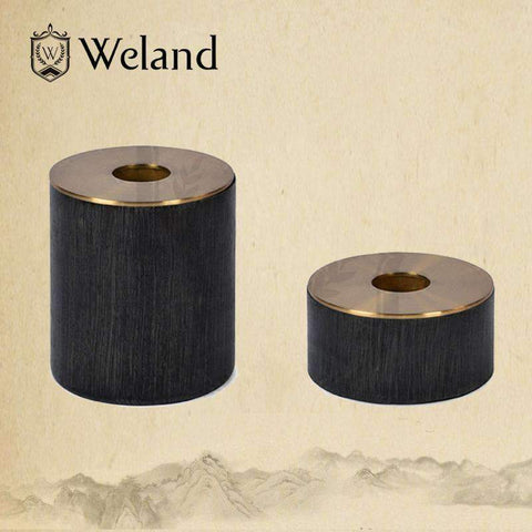 Neo-classical Wooden Candlestick Holder gallery 4