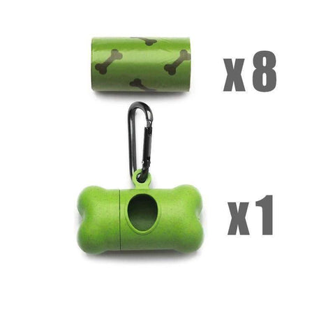 Pet Puppy Use Poop Dispenser Green Bone Shaped With Degradable Bags gallery 4
