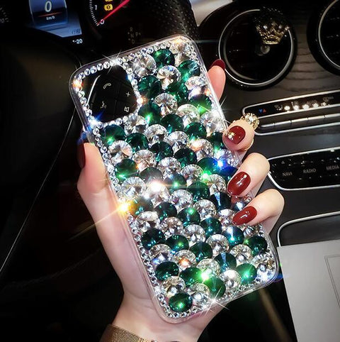 Full Rhinestone Cover Shockproof Phone Case for Samsung gallery 3