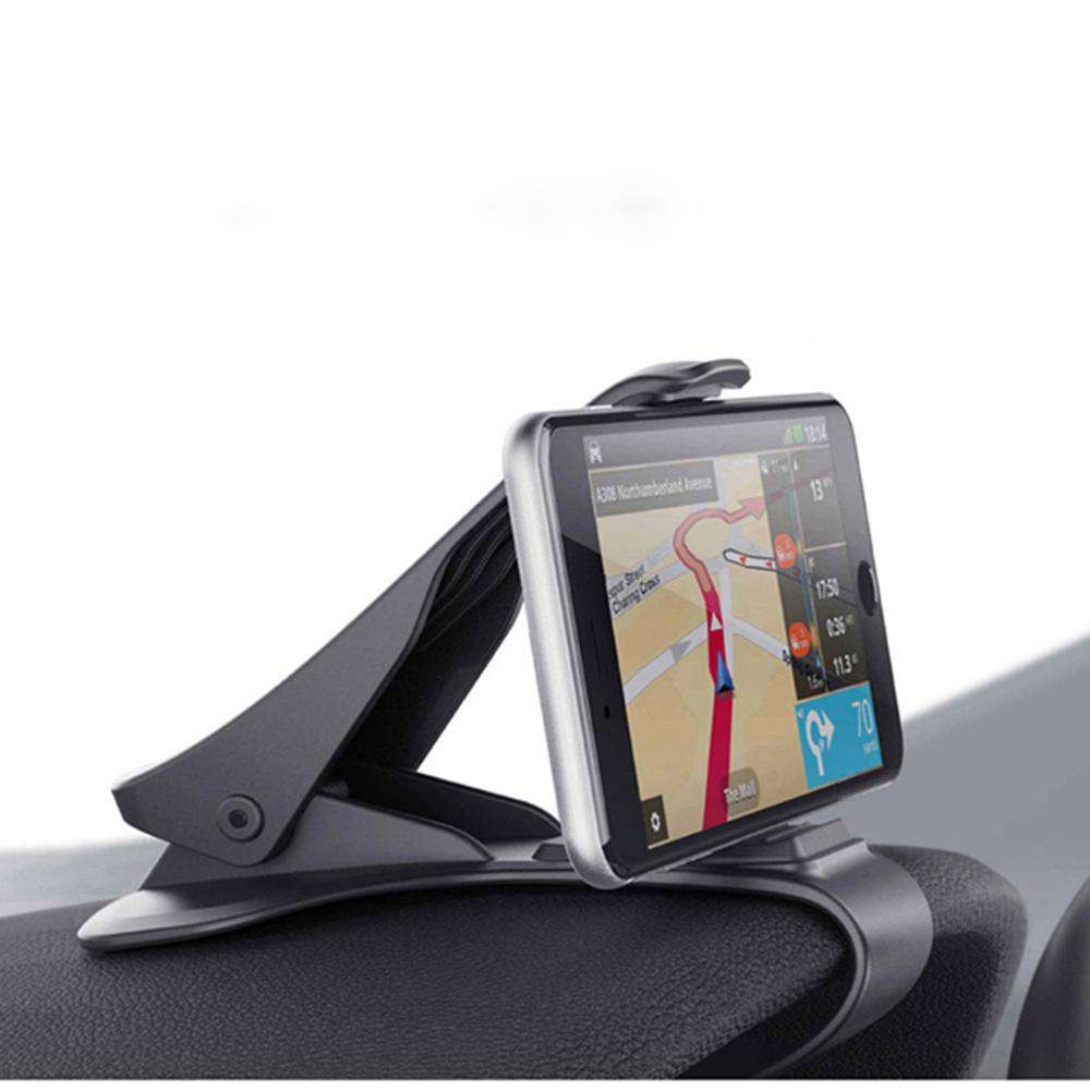 redtree HUD Car Phone Holder Stand Adjustable Clip Car Soft Anti Slip Mobile Phone Holder GPS Bracket For iPhone Samsung Huawei